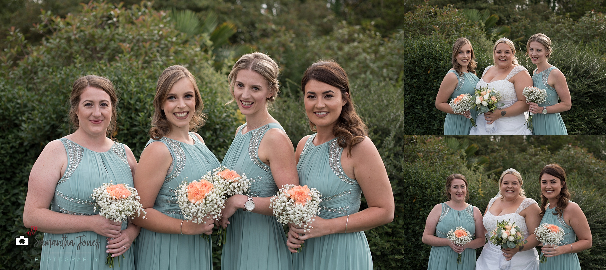 bridesmaids at Stonelees wedding