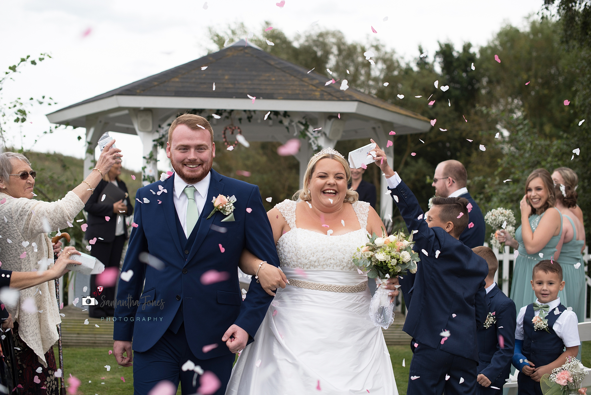 bride and groom at Stonelees wedding
