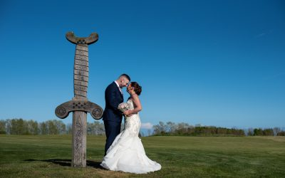 Emma and Aaron married in an outdoors ceremony at Stonelees {sneak peek}