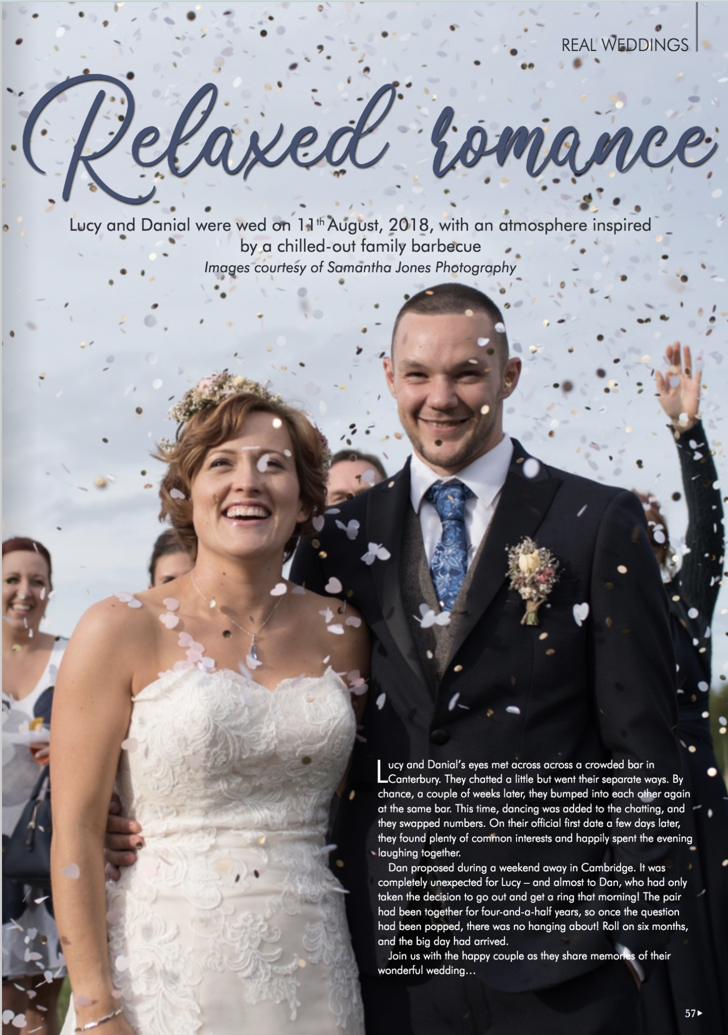 Kent Wedding magazine four page feature by Samantha Jones Photo
