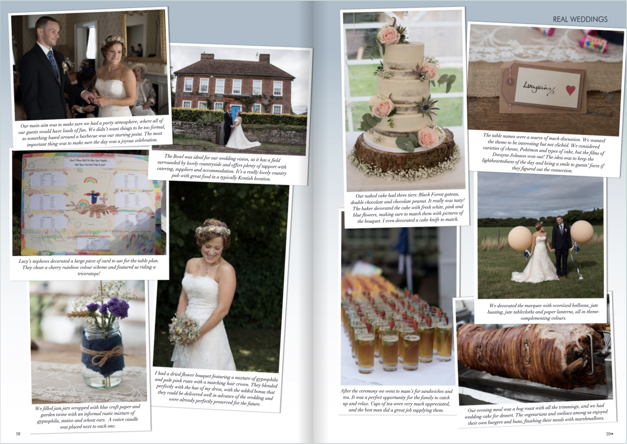 Kent wedding magazine feature by Samantha Jones Photography