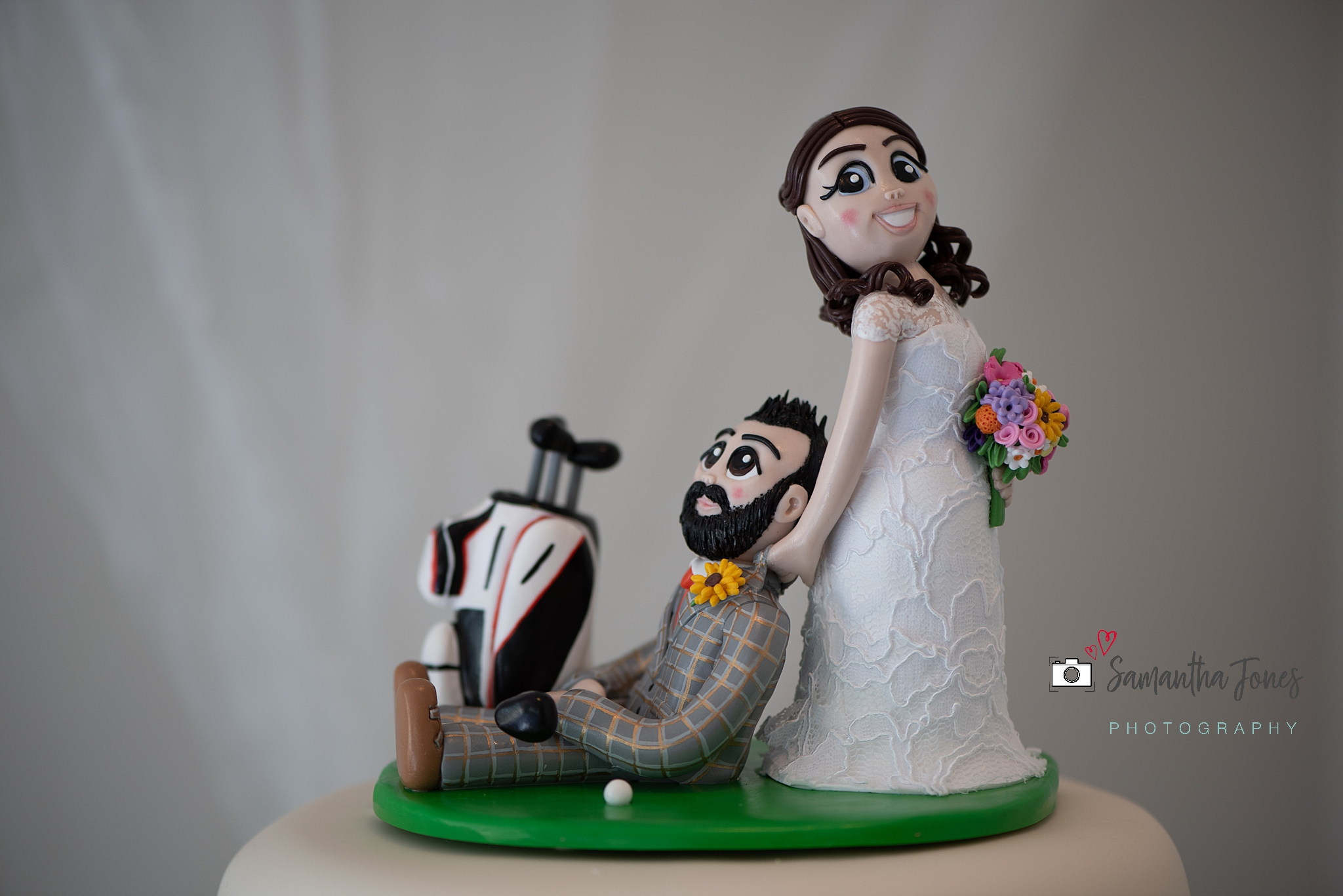 cake topper Kent wedding at Stonelees by Samantha Jones Photography