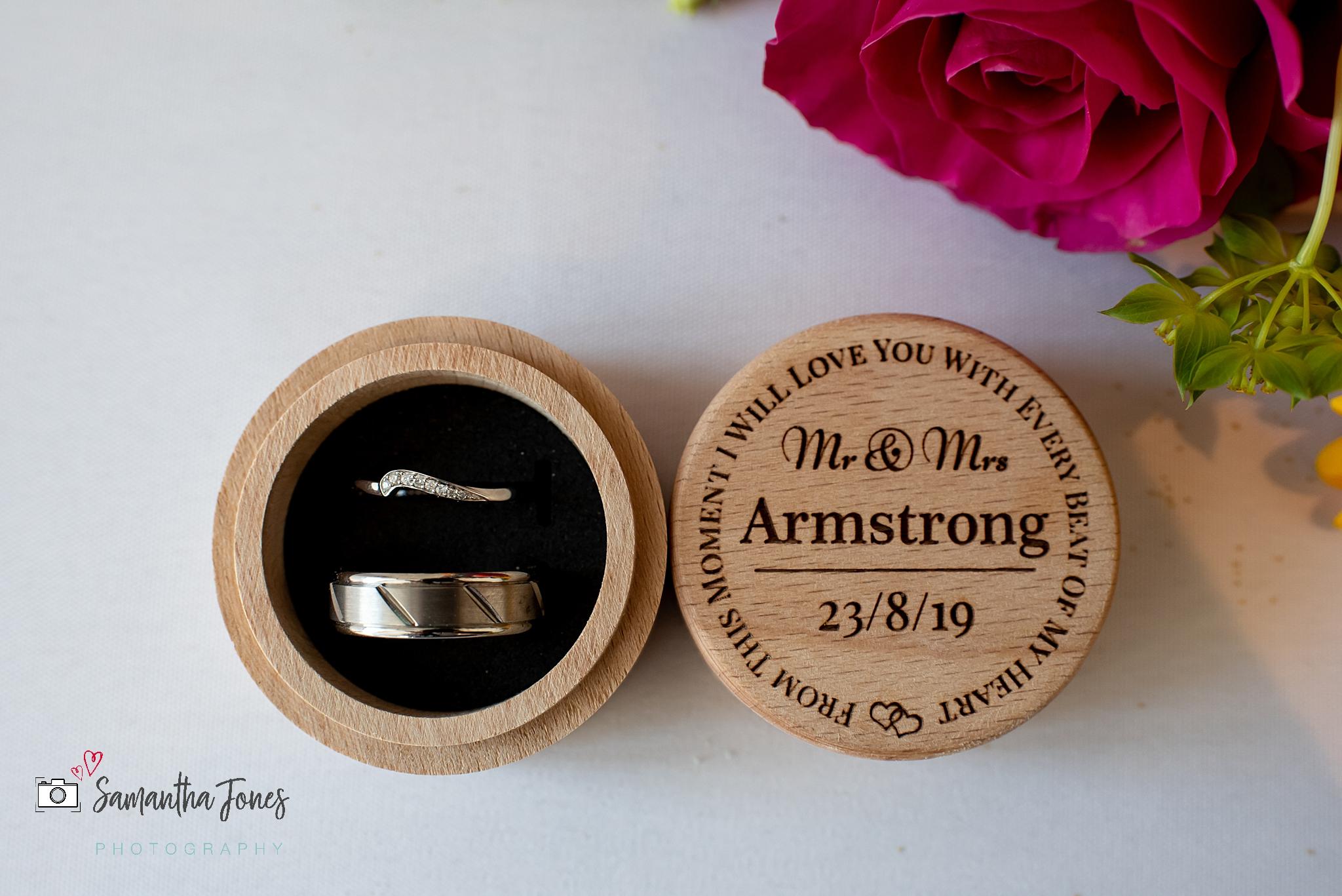 wedding rings Kent wedding at Stonelees by Samantha Jones Photography