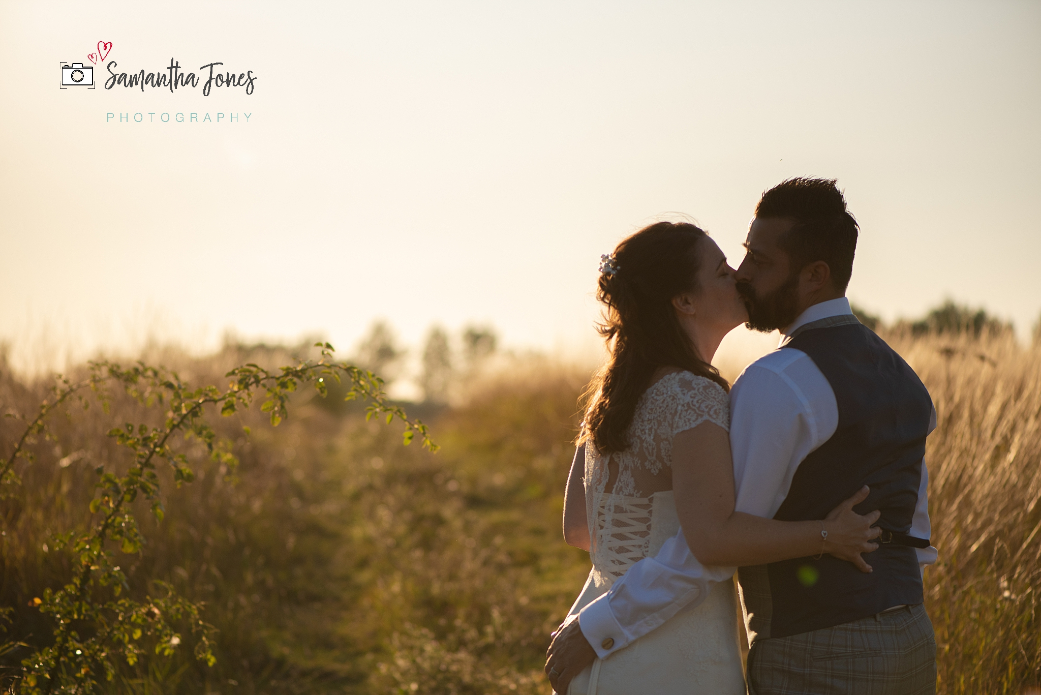 golden hour portraits Kent wedding at Stonelees by Samantha Jones Photography