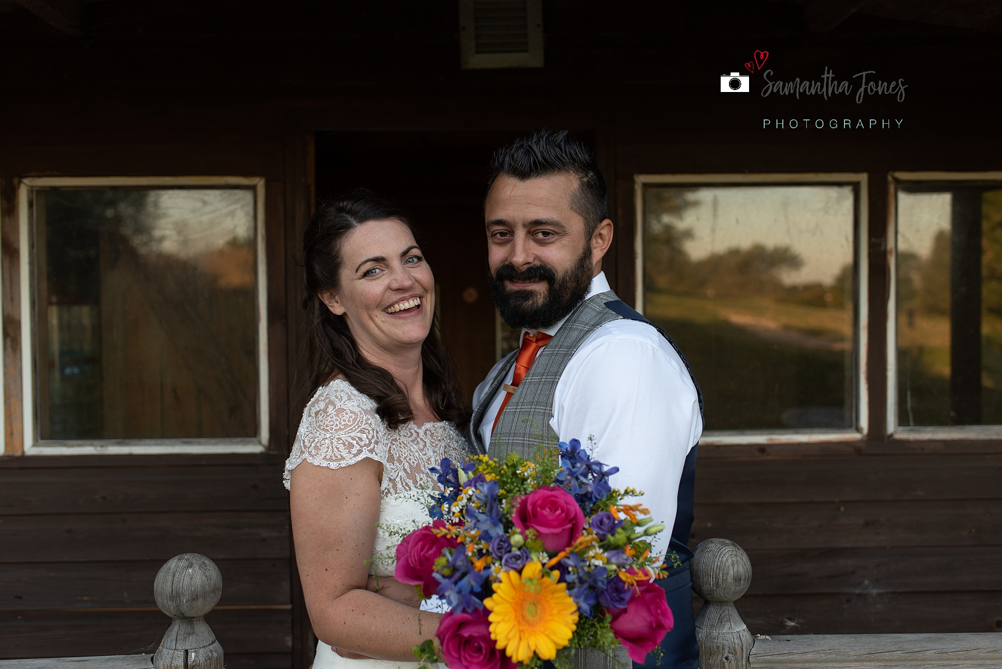 laughing bride and groom Kent wedding at Stonelees by Samantha Jones Photography