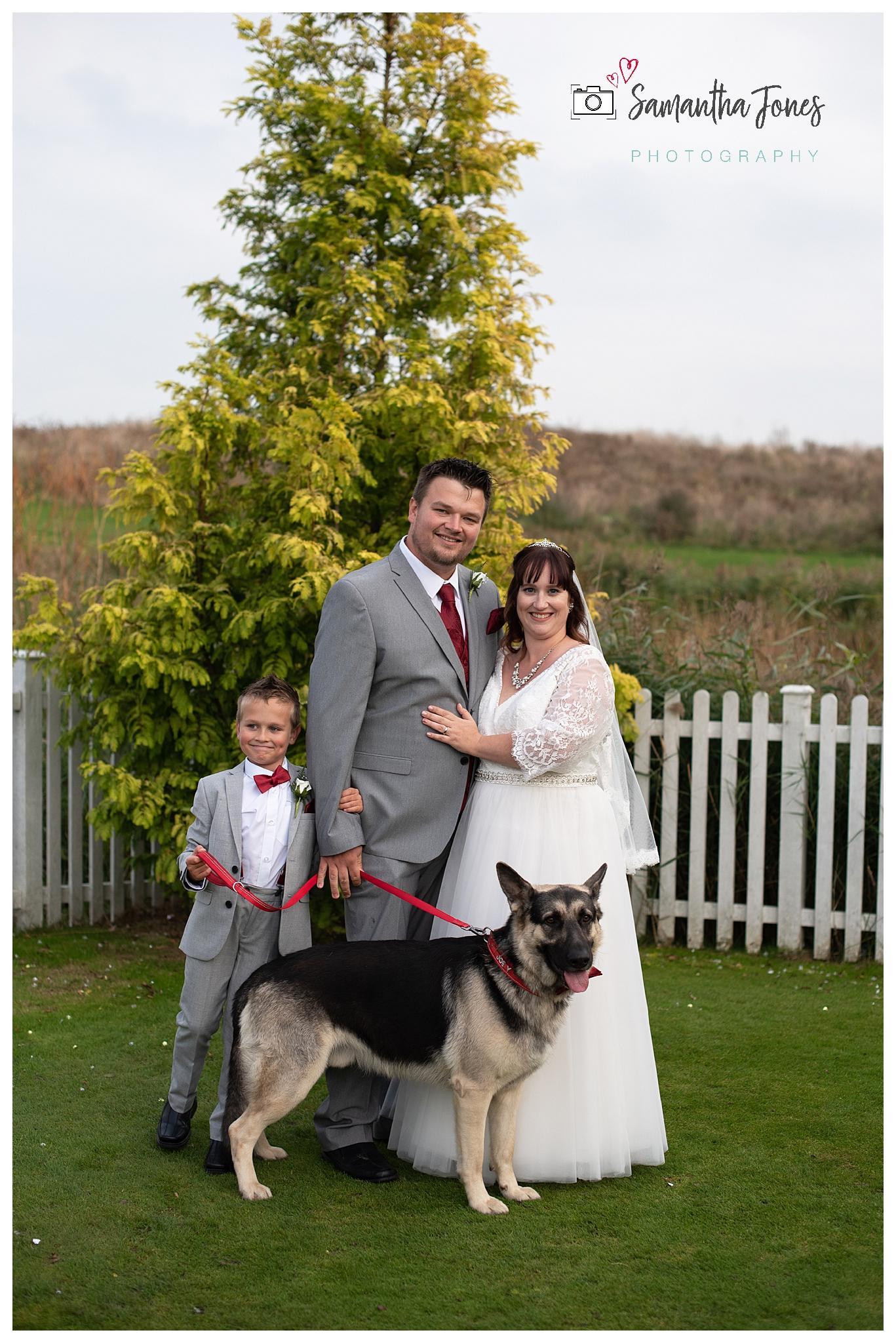 Kent twilight October wedding at Stonelees