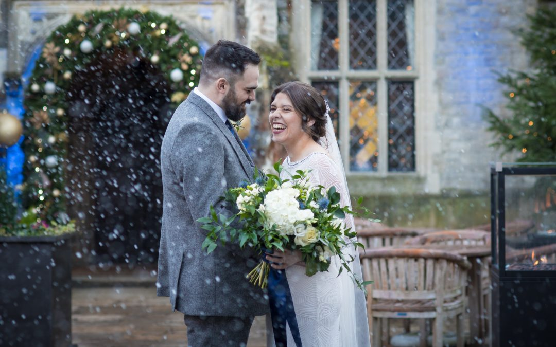 winter wedding at Eastwell Manor
