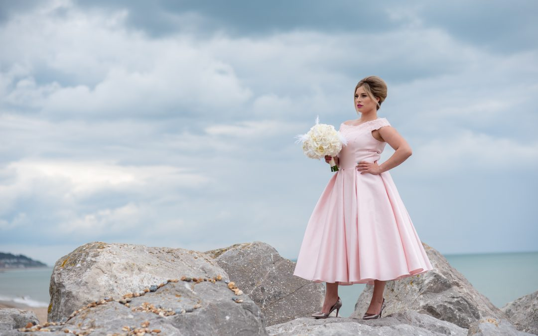 published, Your Kent Wedding, styled photoshoot at Hythe Imperial, beach photoshoot