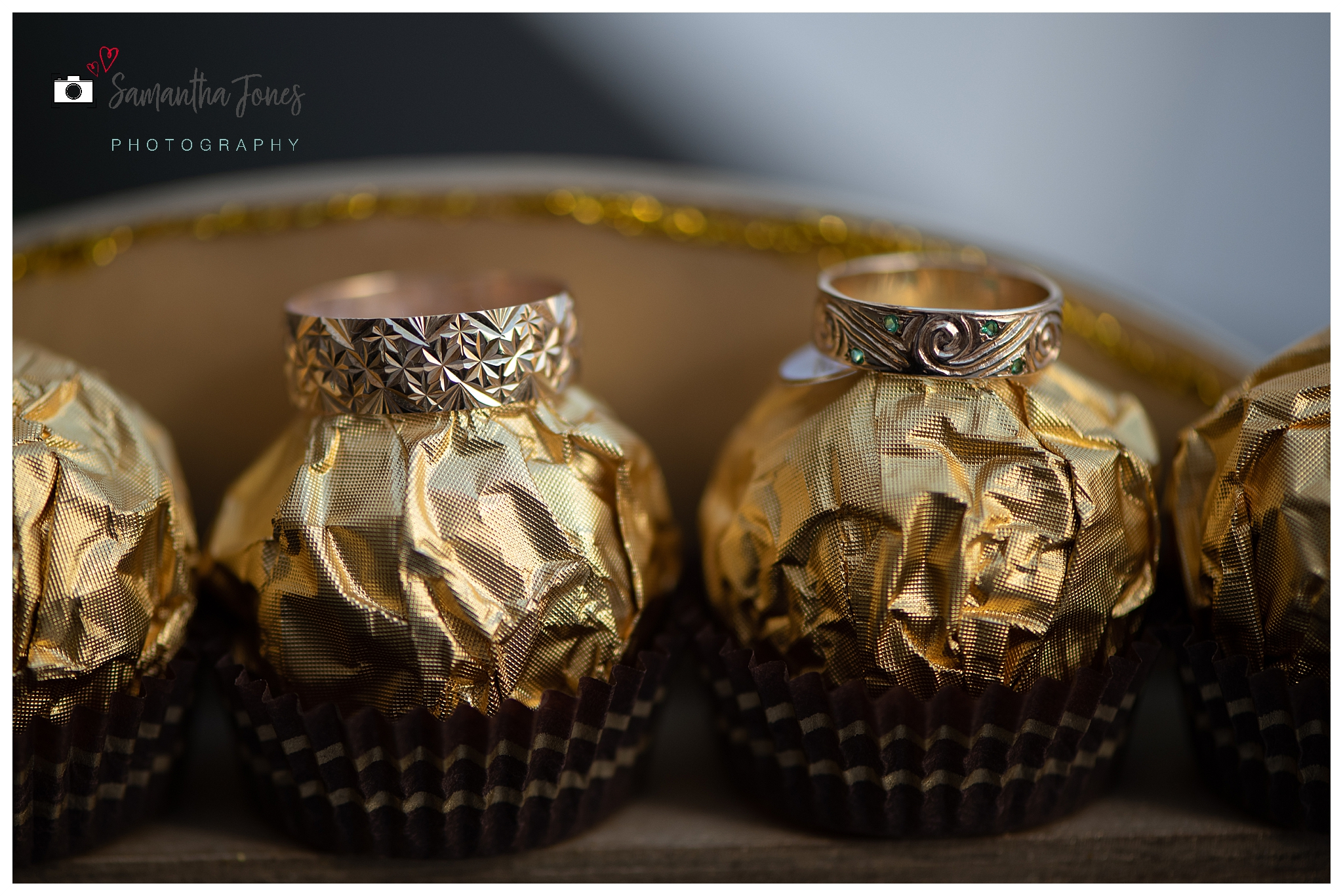 bride and groom twilight wedding wedding rings