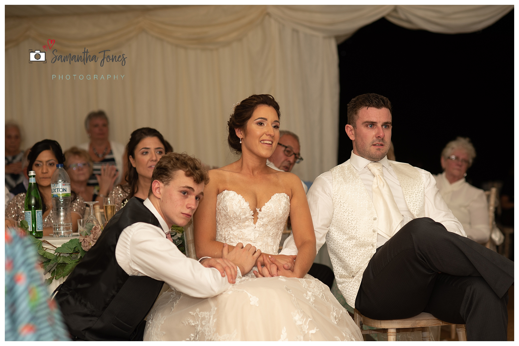 bride and groom September wedding emotional moment