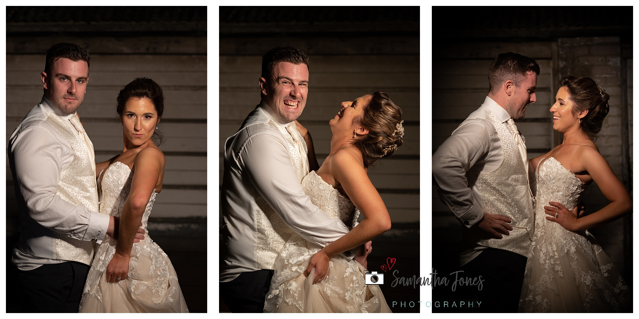 bride and groom September wedding portraits