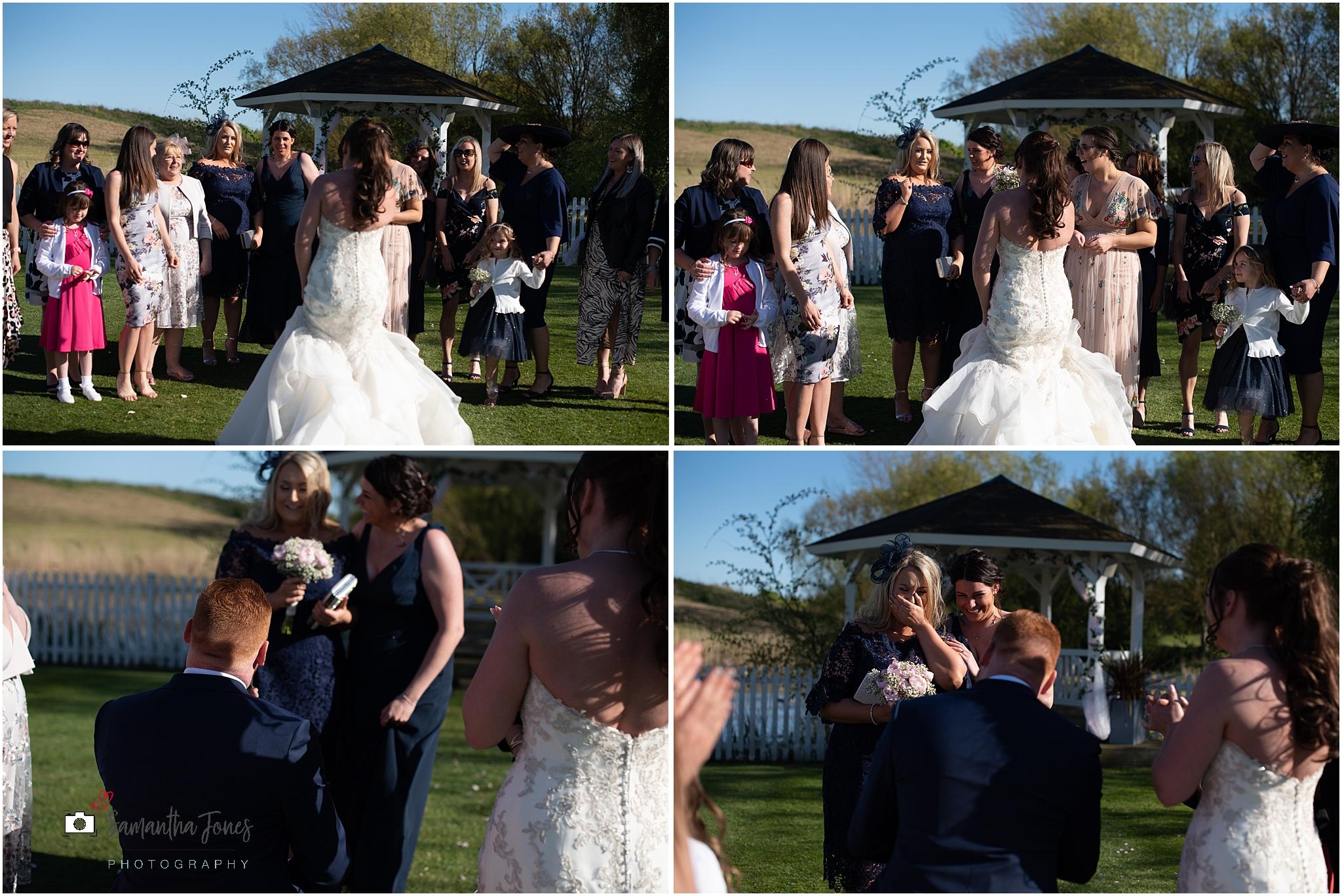 Emma and Aaron twilight wedding at Stonelees a wedding proposal
