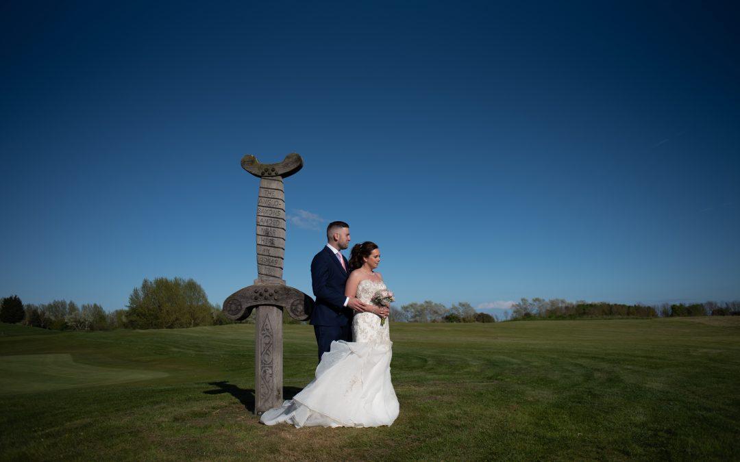 Emma and Aaron twilight wedding at Stonelees