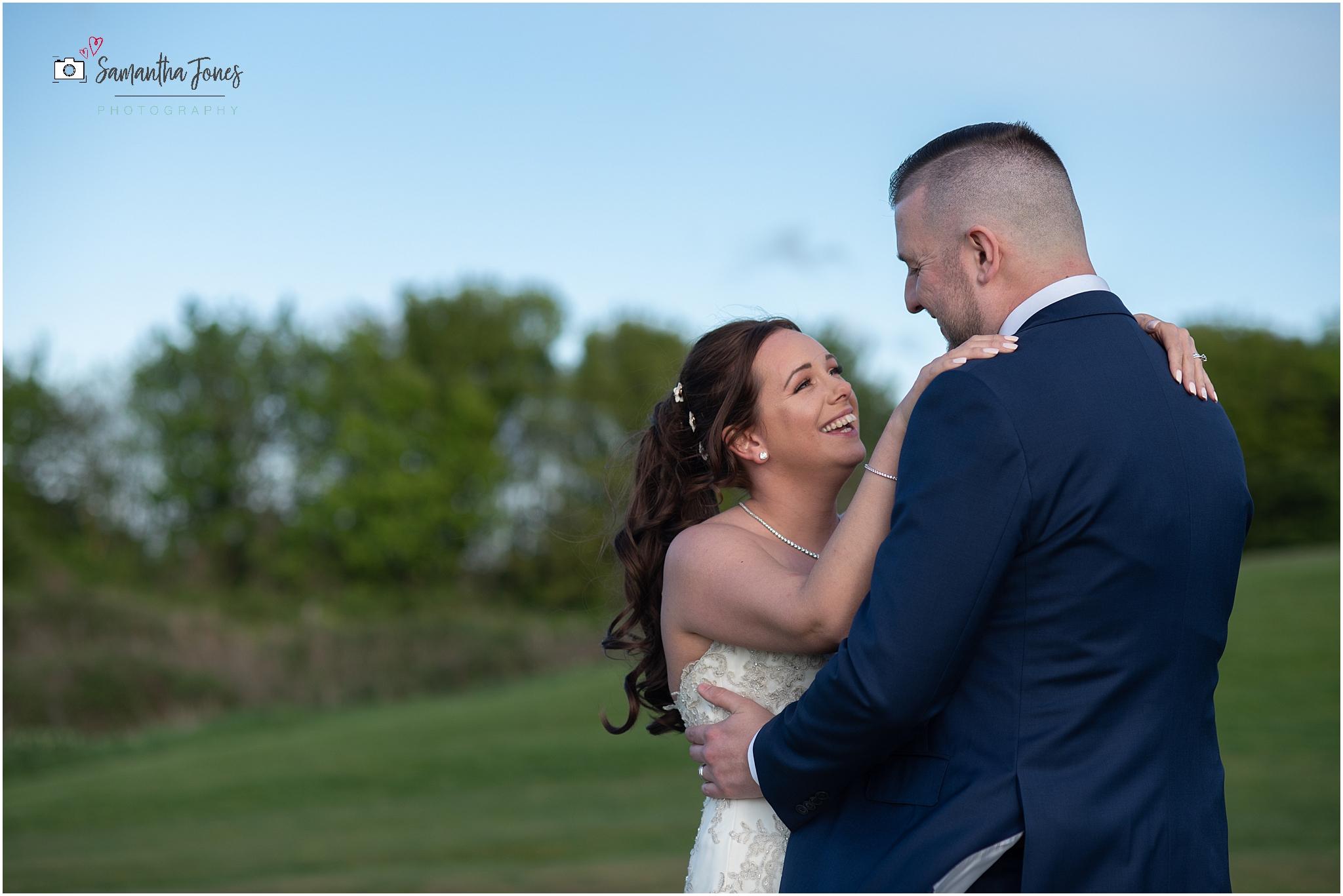Emma and Aaron twilight wedding at Stonelees bride and groom portraits