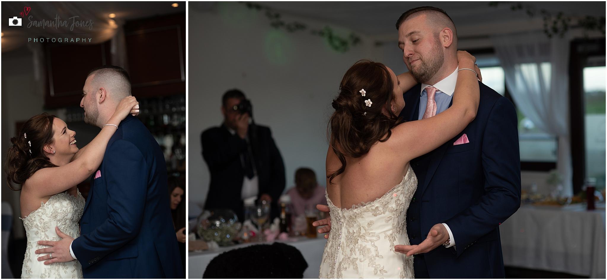 Emma and Aaron twilight wedding at Stonelees first dance