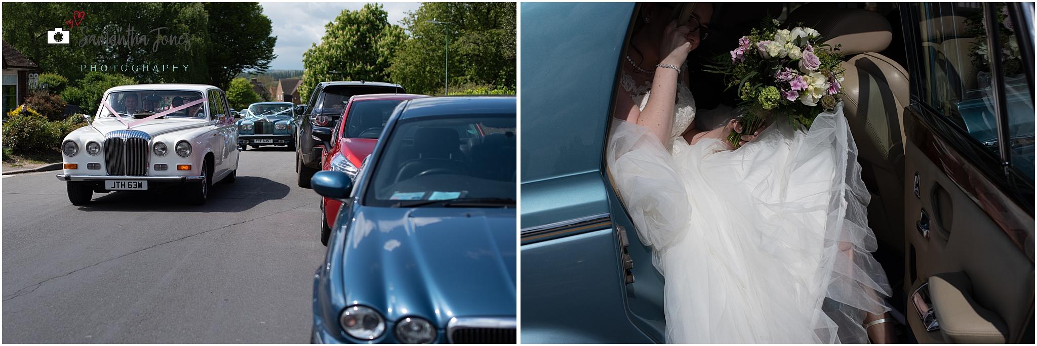 bride arrival at church