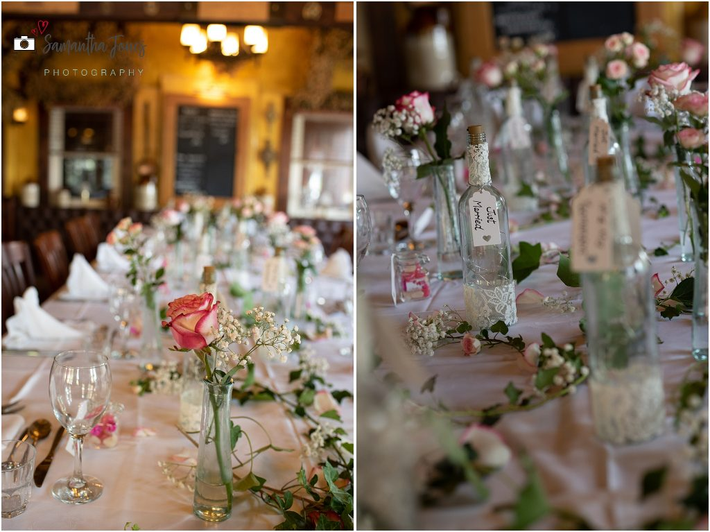 table decorations wedding Kent 2020 Black Horse Thurnham