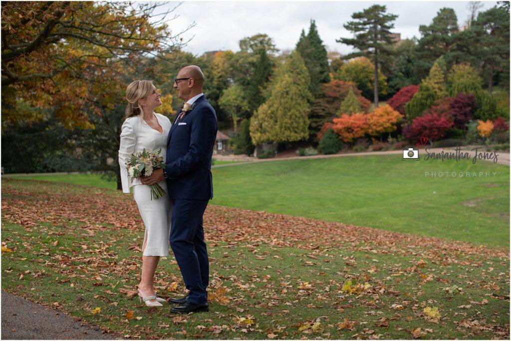 intimate autumn wedding