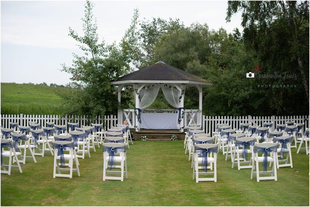 Stonelees golf club set up for wedding