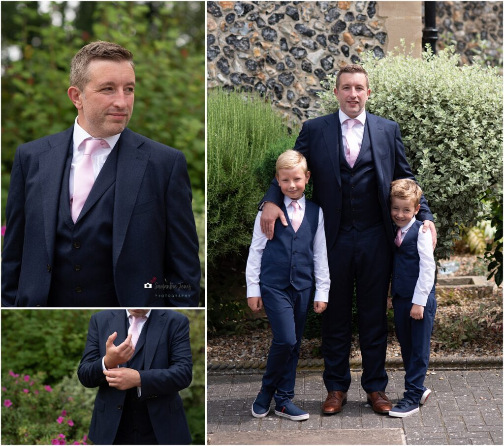 groom portraits with sons