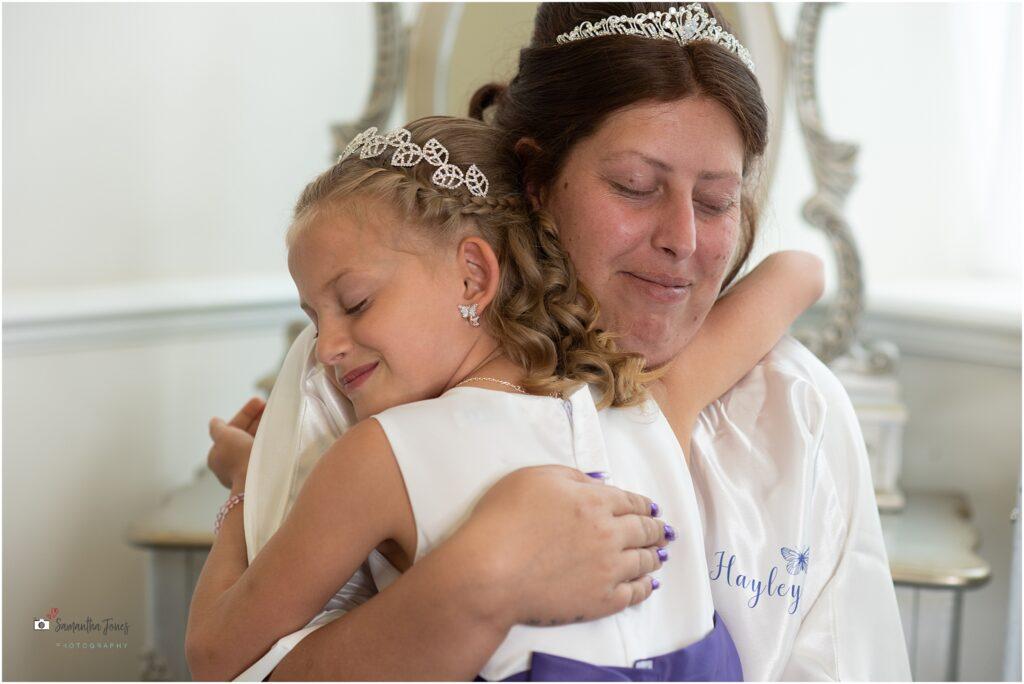 Hayley at bridal preparations