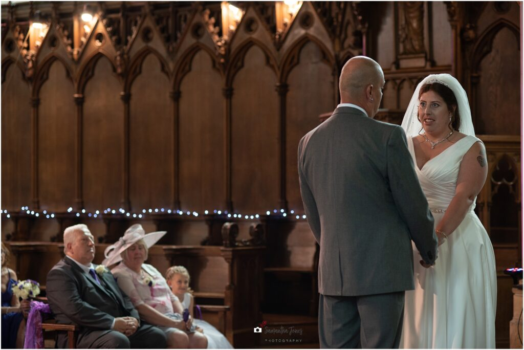 Hayley and Paul married in the chapel at St Augustine's