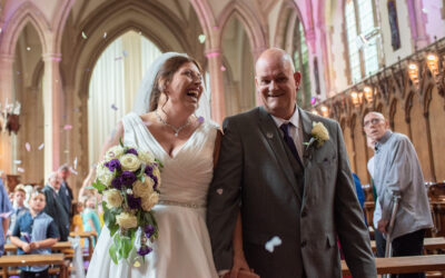 A chapel wedding for Hayley and Paul at St Augustine's