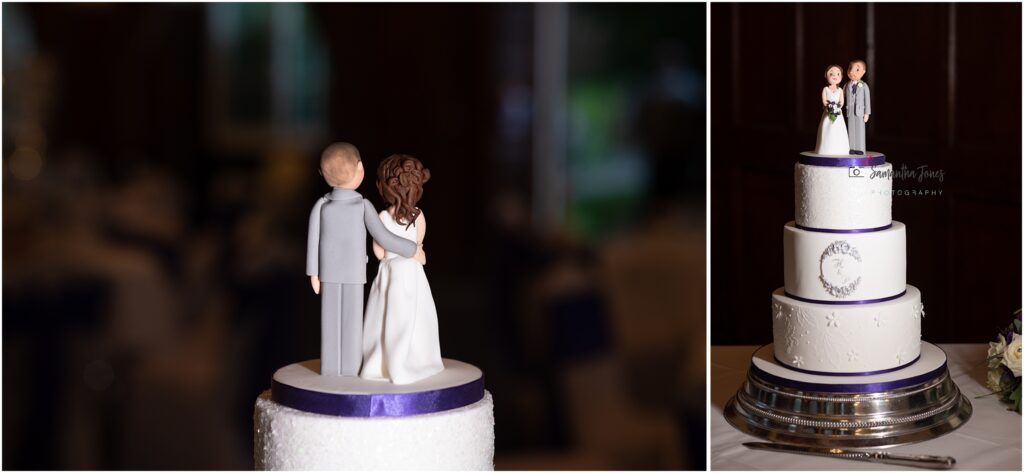 wedding cake with personalised cake topper of bride and groom